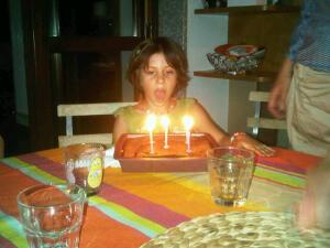 Compleanno viola 5 anni